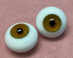 Solid Paperweight Glass Eyes (Hazel) 24mm