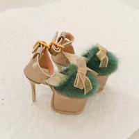 Vanna Fur High Heels (Vintage Green) Fits Lati Yellow/Blythe/Pul