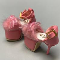 Vanna Fur High Heels (Peach) Fits Lati-Yellow/Blythe/Pullip/Etc