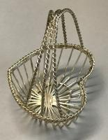 Heart Shape Silver Basket 2.75 x 2.5""