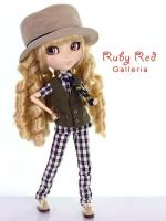 PA0042A Pullip Black & White Plaid Outfit (Fits Blythe & Momoko