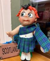 "Scotland by Pat Kolesar, 7"" Resin Handpainted Signed, NRFB COA"