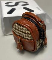Gingham Backpack (Brown) Fits Lati/Blythe/Azone/12""