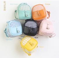 Gingham Backpack (Yellow) Fits Lati/Blythe/Azone/12""