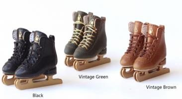 SK Ice Skates (Vintage Green) Fits Lati-Yellow/Blythe/Pullip/1/8