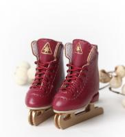 SK Ice Skates (Vintage Red) Fits Lati-Yellow/Blythe/Pullip/1/8 B