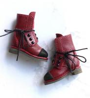 SK Pearl Ankle Boots (WINE) Fits Blythe/Pullip/Etc