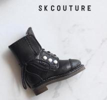 SK Pearl Ankle Boots (Black) Fits Blythe/Pullip/Etc