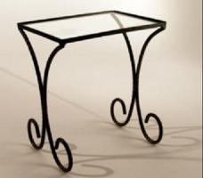 "Furniture: CED Doug James Brass & Glass Table 8x7x5"" (16"" Dolls)"